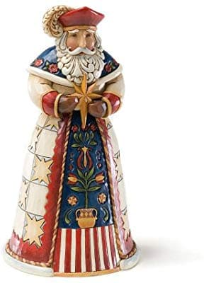 Collectible Polish Santa Stone Resin Figurine, 7""