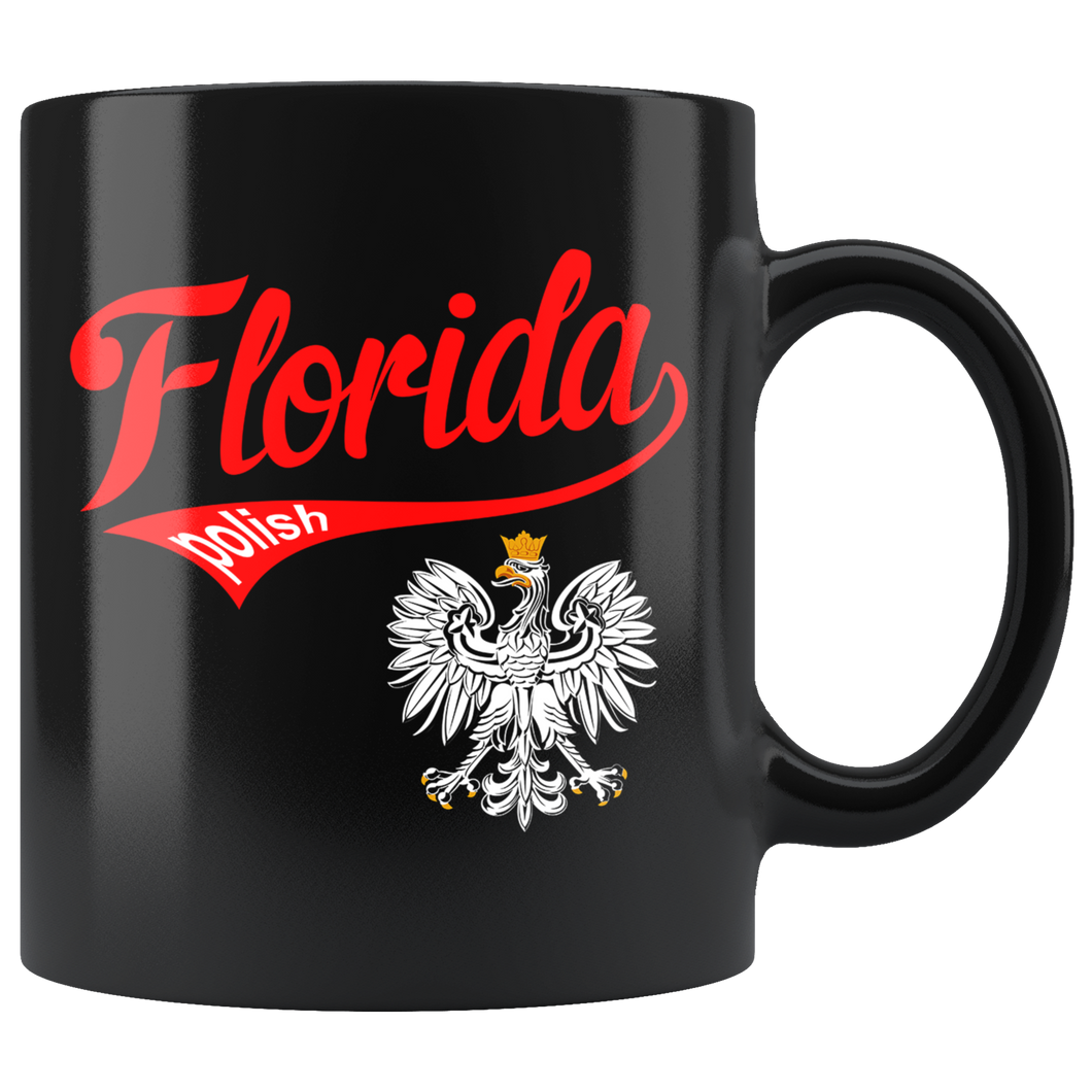 Florida Polish Black 11oz Mug - My Polish Heritage
