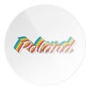 Poland Colorful Circle Decal Sticker
