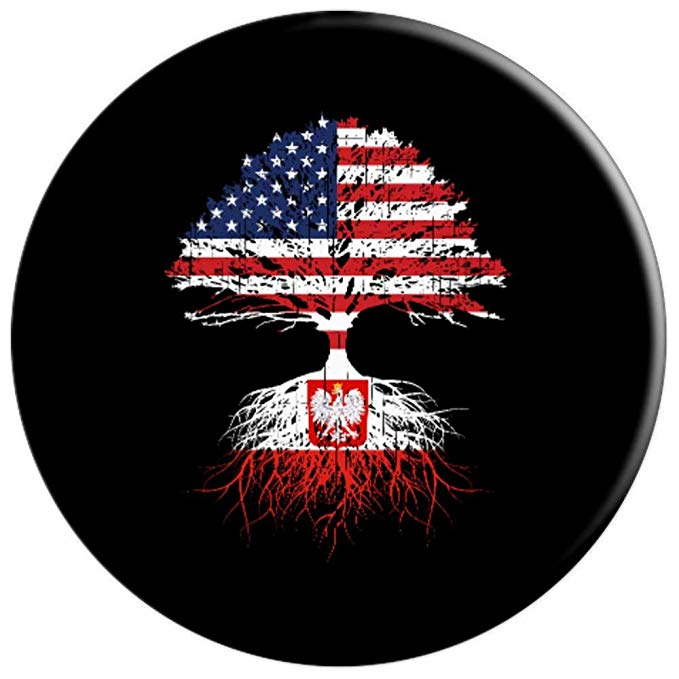 American Made With Polish Parts Flag Of Poland and USA Phone PopSockets