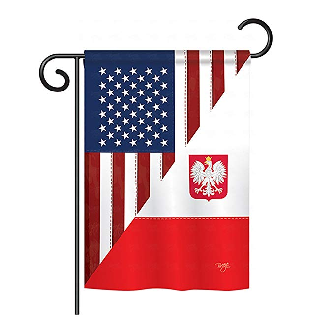 Polish American Decorative Vertical Garden Flag, 13