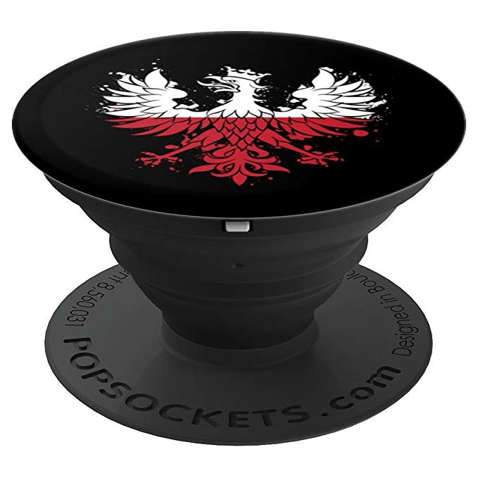 Polish Red and White Eagle Polska Poland Flag Phone PopSockets