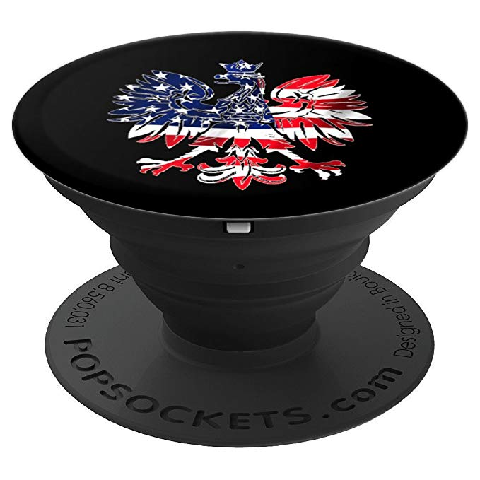 Polish Pride Poland Dyngus Day Eagle American Flag USA Phone PopSockets