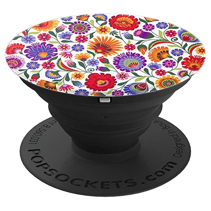 Polish Floral PopSocket Phone Grip and Stand for Phones and Tablets