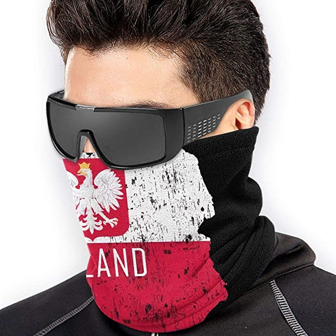 Poland Neck Gaiter. Face Mask Covering