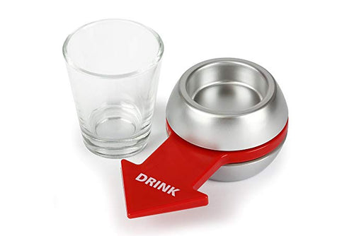 Spin the Shot - Fun Party Drinking Game - Pour a Shot, Spin and Drink or Make Up the Rules - Delightful Gift for Home Entertaining, Kickbacks, Parties, Tailgates, and Get Togethers
