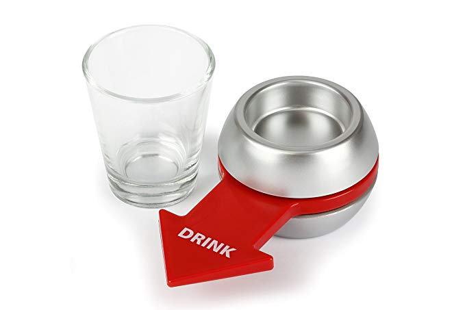 Spin the Shot - Fun Party Drinking Game - Pour a Shot, Spin and Drink or Make Up the Rules