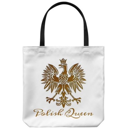 Polish Queen Gold Eagle Tote Bag