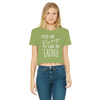 Feed Me Pierogi Classic Women's Cropped Raw Edge T-Shirt