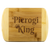Pierogi King Round Edge Wood Cutting Board