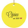 Ojciec est. 2019 Ceramic Circle Ornament- Multiple Color Options