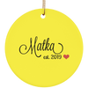 Matka Ceramic Circle Ornament- Multiple Color Options