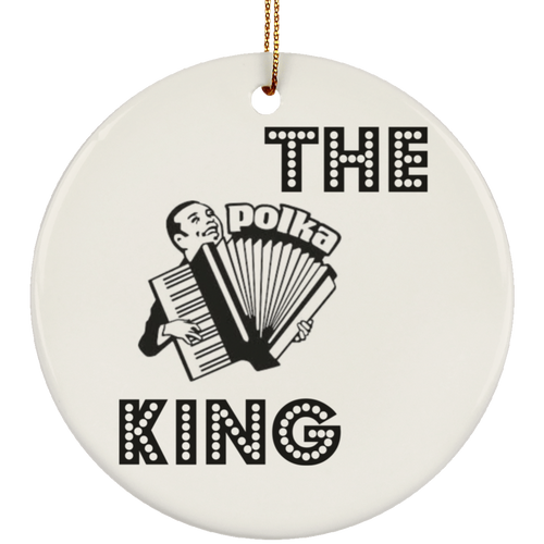 Polka King with Accordian Ceramic Circle Ornament-Multiple Color Options