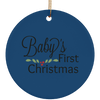Baby's First Christmas Ceramic Circle Ornament