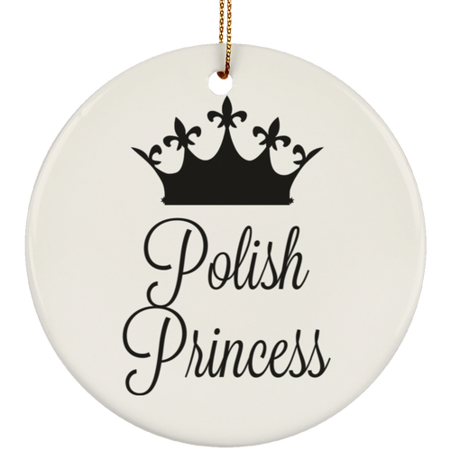Polish Princess Ceramic Circle Ornament- Multiple Color Options