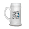 I Just Want to Drink Vodka and Eat Pierogi Polish Beer Stein - My Polish Heritage