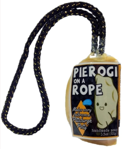 Black and Gold. Steel City. Pittsburgh Pierogi Soap On A Rope