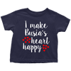 I Make Busia's Heart Happy Toddler Shirt - My Polish Heritage