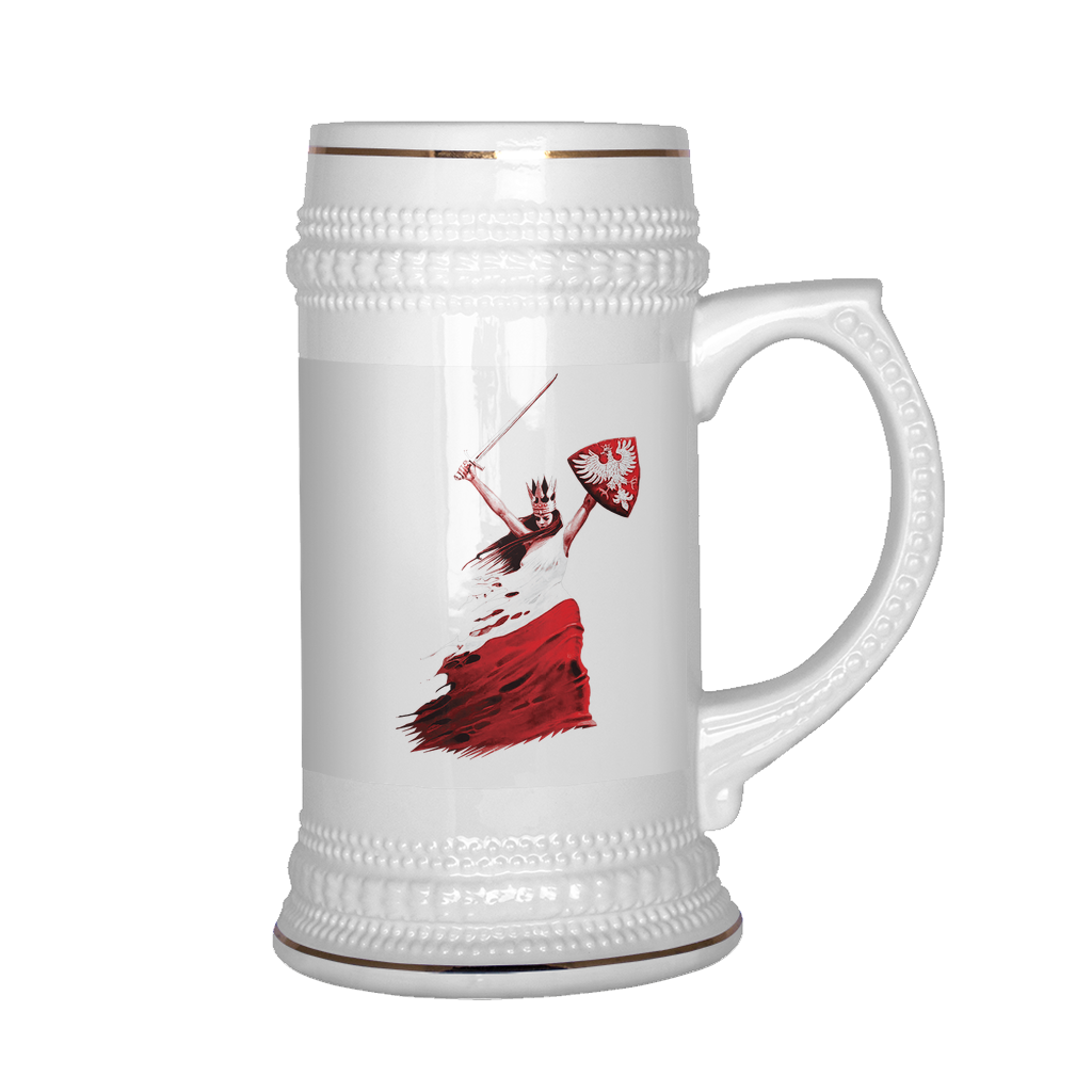 Polish Woman Warrior Beer Stein