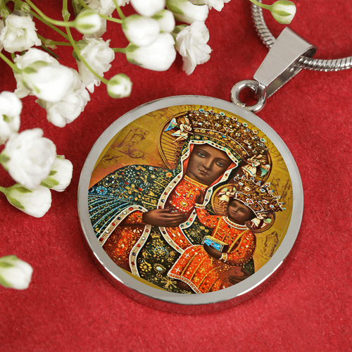 Black Madonna of Czestochowa Luxury Necklace - My Polish Heritage