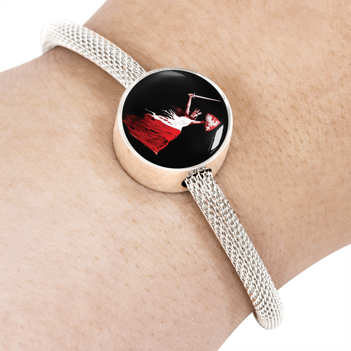 Polish Woman Warrior With Circle Charm Bracelet