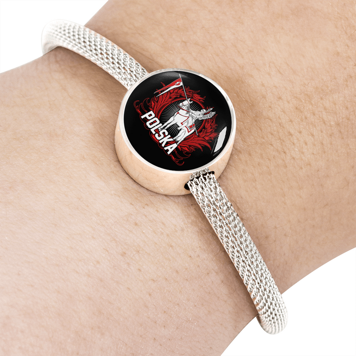 Polish Hussar Warrior With Circle Charm Bracelet - My Polish Heritage
