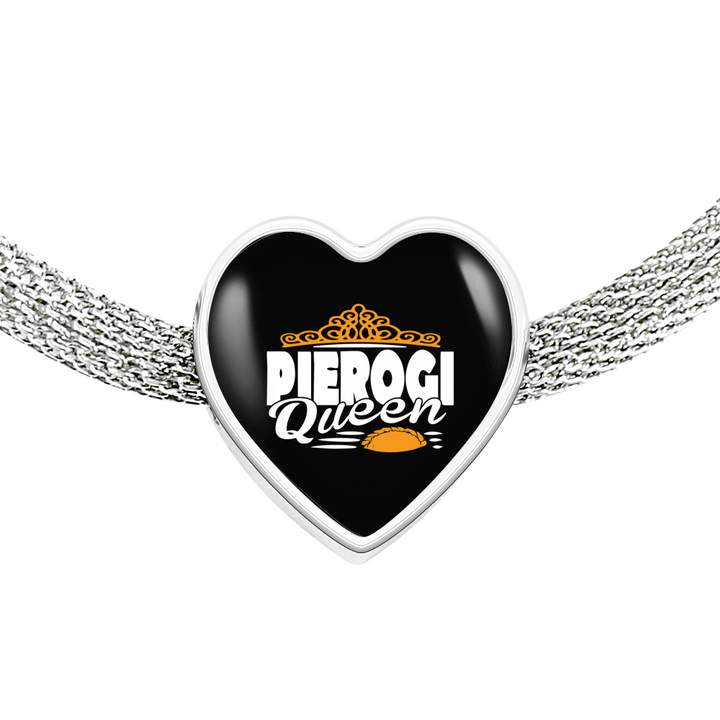 Pierogi Queen with Heart Charm Bracelet - My Polish Heritage