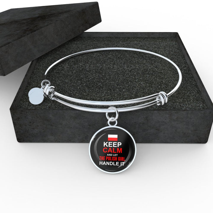Let Polish Girl Handle It With Circle Charm Bangle - My Polish Heritage