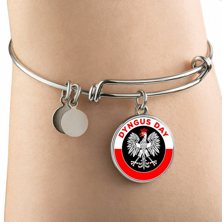 Dyngus Day with Circle Charm Bangle - My Polish Heritage