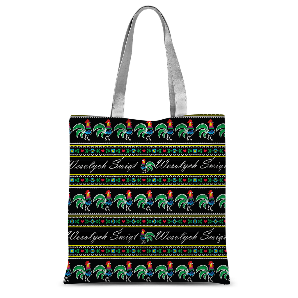 Polish rooster Wesołych Świąt Classic Sublimation Tote Bag