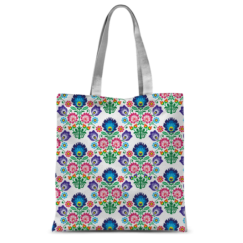 Feminine Floral Classic Sublimation Tote Bag