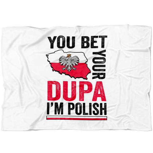 You Bet I'm Polish Fleece Blanket