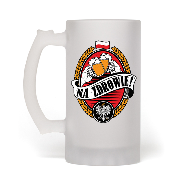Na Zdrowie Frosted Beer Mug - My Polish Heritage