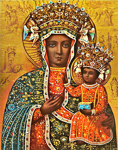 Black Madonna of Czestochowa Decal