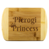 Pierogi Princess Round Edge Wood Cutting Board