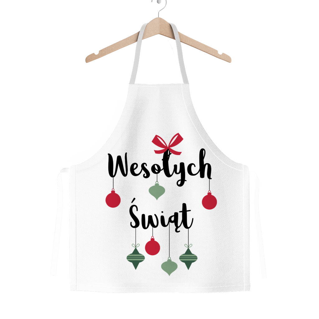 Wesołych Świąt with Ornaments Classic Sublimation Adult Apron