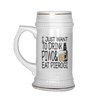 I Just Want to Drink Piwo and Eat Pierogi Beer Stein - My Polish Heritage
