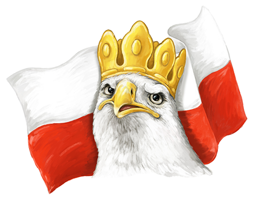 Eagle and Polish Flag 2 Sticker