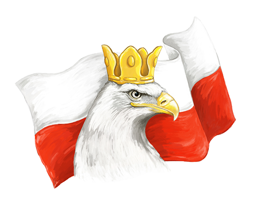 Eagle and Polish Flag Sticker
