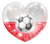Polish Soccer Heart Flag Sticker