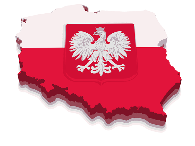 Map of Poland Sticker