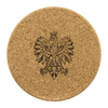 Polish Eagle Round Cork Coaster Set