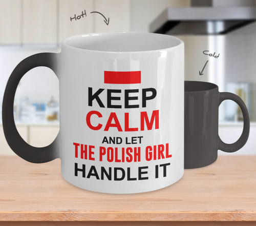 Let Polish Girl Handle It Color Changing Mug - My Polish Heritage