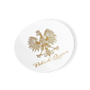 Polish Queen Gold Eagle Circle Decal Sticker