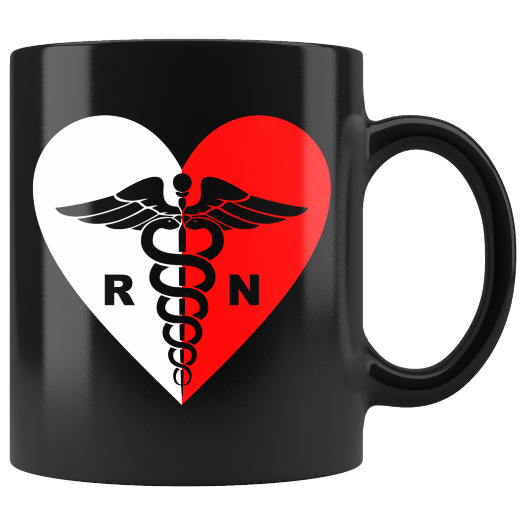 Polish Registered Nurse Black 11oz Mug