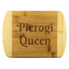 Pierogi Queen Round Edge Wood Cutting Board