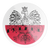 Poland Eagle Red and White Circle Decal Sticker