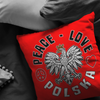 Peace Love Polska Pillow - My Polish Heritage