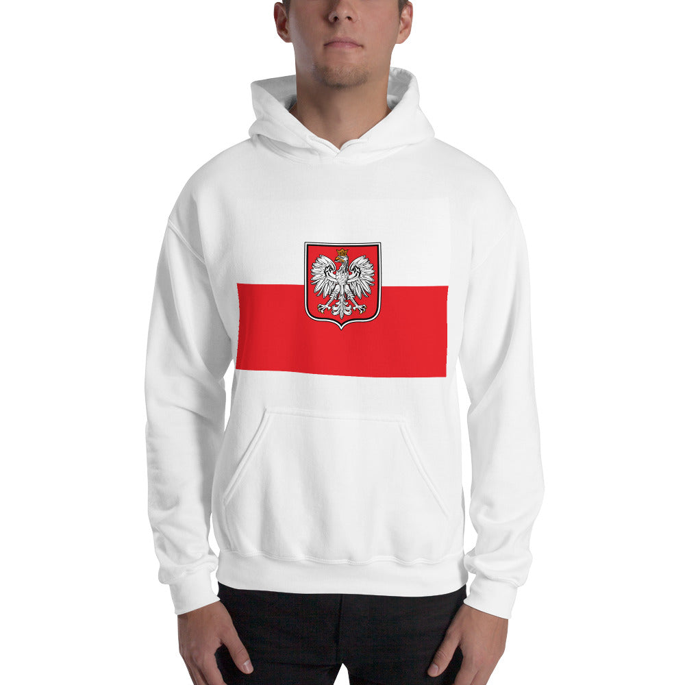 Polish Flag with Eagle Hoodie