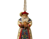 Collectible Polish Santa Stone Resin Hanging Ornament, 4.5""